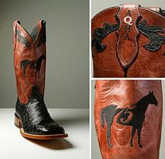 Check out these mens full quill ostrich 75th anniversary Justin boots! #justinboots #cowboyboots #ootd #western #aqha