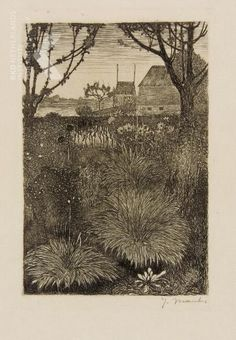 Herfsttuin, najaar 1917, Rijksprentenkabinet Amsterdam Landscape Artwork, Landscape Drawings, Art And Illustration, Dutch Painters, Dark Art, Painting & Drawing, Printmaking, Sculpture, Fine Art