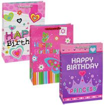 Bulk Voila Extra Large Pink Themed Gift Bags For Kids At DollarTree