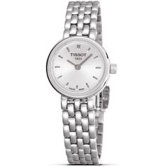 Tissot Lovely Women's Silver Quartz Dress Watch, 19mm ❤ liked on Polyvore