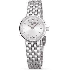 Tissot Lovely Women's Silver Quartz Dress Watch, 19mm ❤ liked on Polyvore