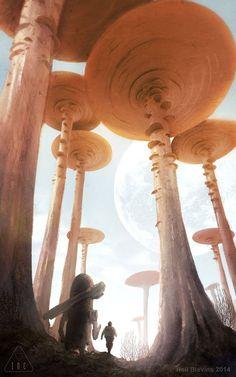 Inc Coral Desert Wandering 1, Neil Blevins on ArtStation at http://www.artstation.com/artwork/inc-coral-desert-wandering-1★ Find more at http://www.pinterest.com/competing/