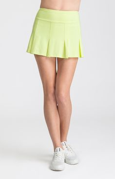 Chartreuse Emeline Skort - Palm Springs for Tennis – Tail Activewear – Women's Tennis Apparel