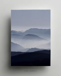 The misty blue mountains at dawn. Part of our photography collection.