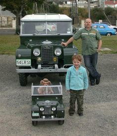 Land Rover family, cool wheels, father and son, toys in different sizes, cute, nuttet, photo, male pride.