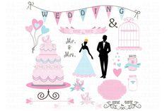 Wedding Doodle ClipArt - Illustrations - 1