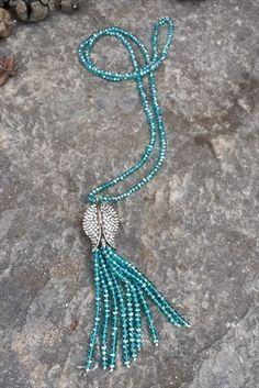 Uzun Kristal Lale Kolye F00578 Stoneage | Trendyol