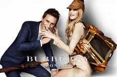 Burberry London S/S12 campaign featuring Eddie Redmayne and Cara Delevingne.                             Love this bag