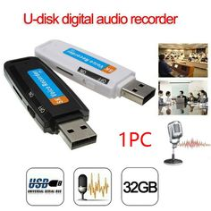Mini Rechargeable U Disk Plastic Professional Voice Recorder Portable Support TF Card Audio Pen Flash Drive Digital USB WAV 🎁FREE GIFT* on our website and FREE Shipping Worldwide ❗ 👍Like and Share if you want this Mini Rechargeable U Disk Plastic Professional Voice Recorder Portable Support TF Card Audio Pen Flash Drive Digital USB WAV Share to 😀friends❤️! #bestdeals #glam #stylish Usb Drive, Usb Flash Drive, Spy Devices, Voice Recorder, Digital Audio, The Ordinary, Consumer Electronics, The Voice, Charger