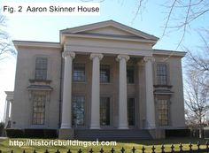 Aaron Skinner House in New Haven, Ct., designed by Alexander Jackson Davis.