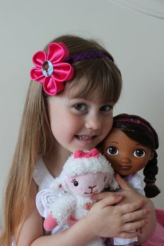 Doc McStuffin Headband in Pink and Purple by thelaughingprincess, $8.50