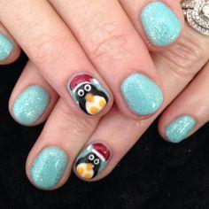 Christmas nails. All done with NSI Polish Pro Gel Polish