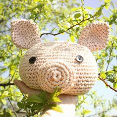 mjukstore - etsy - doorstopper - animal - pig #mjukstore #etsy #unseretsy #doorstopper #animalhead #decoration #homemade #home #interior #fox #kids #kidsroom #design #teampinterest #homedeco #style #trend #cute #mummy #parents #family #textiledesign #crochet #pig #bunny #rabbit #penguin #elephant #textile #wool #germandesign #handmade #diy