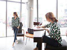 Women Green Leopard Print Chiffon Shirt Top Blouse