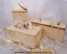 """Набор для Ванной комнаты """"Ivory lace"""" - кружево,цвет слоновой кости,айвори"""