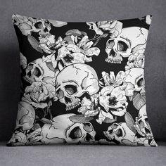 Black and White Sexy Flower Skull Duvet Bedding Sets