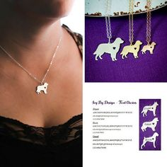Golden Retriever Necklace  Dog Pendant  Dog Breed  by IvyByDesign