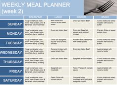 Here is Week 2 of my AIP meal plan and recipes! Click the picture to get the recipes ;)