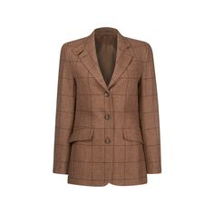 Rosedale Jacket from William&Son Light brown with burgundy over check Single vent and action back Three buttoned Two front pockets