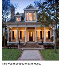 Farm house...love this.porch should wrap around it