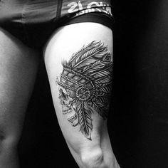 erkek üst bacak dövme modelleri man thigh tattoos 6