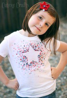 4 Estampada Borrador DIY de la camisa de julio - Hecho con papel de congelador y una goma de borrar!