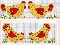 ponto cruz cozinha galinha - Pesquisa Google
