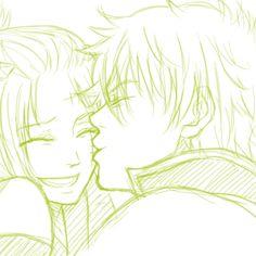 I'm so sorry no I' Anime Cupples, Anime Kiss, Gintama Funny, Animation Storyboard, Death Parade, Nisekoi, Anime Love Couple, Perfect Couple, Kokoro