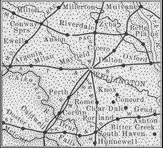 Sumner County, Kansas ~ Map from History of Kansas, Noble Prentis, (Winfield: E.P. Greer. 1899)