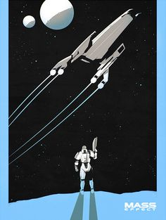 Mass Effect Screenprints. by Calum Alexander Watt. | GamesNEXT