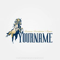 Create a Logo Template – Horse logo design