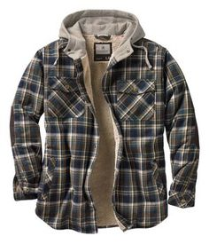4a3426a2a43 Legendary Whitetails Men s Camp Night Berber Lined Hooded Flannel