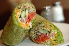 This Sprouts, Veggies, and Cheese Wrap is the perfect healthy and tasty lunch or summer dinner. #healthylunchideas