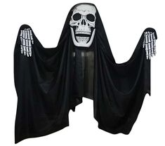 Voguish REAPER CURTAIN 9.8FT. Exciting range of Skeleton & Skull Decorations & Props for Halloween at CostumePub. Skeleton Gloves, Scary Halloween Decorations, Skull Mask, Skull Decor, Range, Cookers