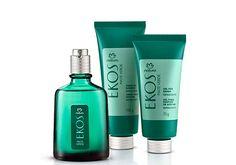 Presente Natura Ekos Mate Verde - Desodorante Colônia + Creme de Barbear + Gel Pós-barba + Embalagem