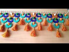 DIY - HOW TO MAKE DOOR HANGING TORAN FROM PLASTIC NET || AWESOME DOOR TORAN MAKING AT HOME || all - YouTube Diwali Decorations At Home, Door Hanging Decorations, Diwali Diy, Diwali Craft, Diwali Rangoli, Macrame Wall Hanging Diy, Wall Hanging Crafts, Diy Crafts Hacks, Diy Home Crafts