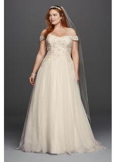 Oleg Cassini Plus Size Swag Sleeve Wedding Dress 4XL8CWG729