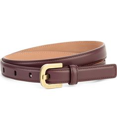 MICHAEL KORS COLLECTION Buckle leather belt
