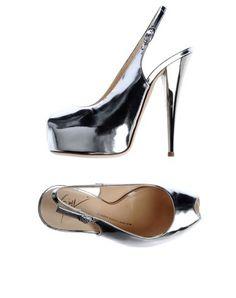 Giuseppe zanotti design - Peep toe silver