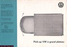 VW - 1962 - Pick-up VW à grand plateau - 152 669 40 5/62 - [2785]-1