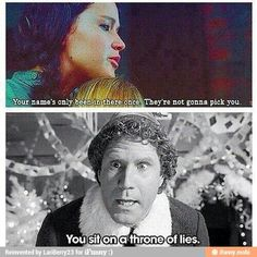 Hunger games / Elf mashup two of the best movies in existence!