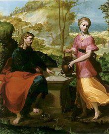 Michelangelo Anselmi - Cristo  e la samaritana al pozzo