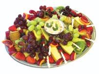 Fruit platter with Yoghurt dips yum