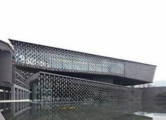 Xinjin Zhi Museum by Kengo Kuma & Associates located at the foot of Maojunshan Mountain in China via @designboom