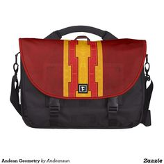 Andean Geometry Bag For Laptop