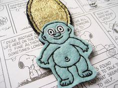 BIG Troll Doll Pin | Kitsch brooch | 90s Pin | Funky Badge | Troll Brooch | Cartoon Pin