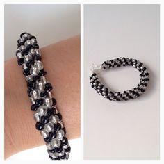 Første forsøk på #kumihimo me perla, vart no ok  #beads #perler #diy #bracelet #diybracelet