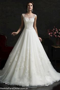 Vestido de Noiva Princesa Moderna
