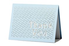 www.intricatecreations.co.uk Floral Shower Laser-Cut Thank You Card