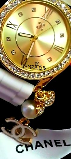 Chanel  By.Semra.Ö.B Chanel Watch, Gold Watch, Rolex Watches, Are You Happy, Black Gold, Diamond, Accessories, Luxury, Fashion